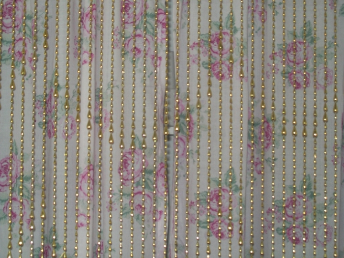 Metallic Gold Cascading Water Beaded Curtains - ShopWildThings.com